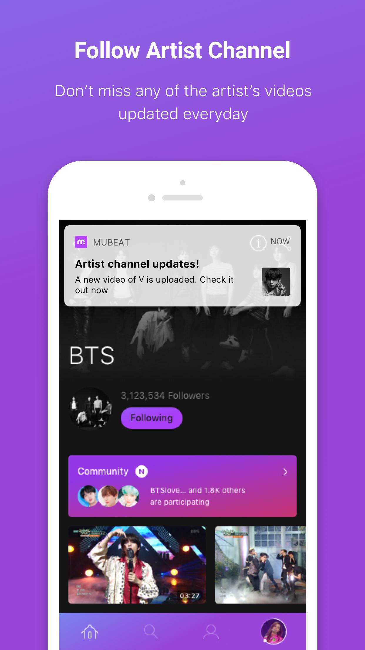 kpop app music app free music kpop video kpop platform